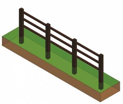 clôture triple lisses
