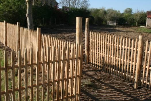 clôture panneau châtaignier